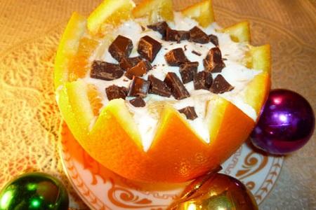 фруктовый салат с апельсиновой крошкой