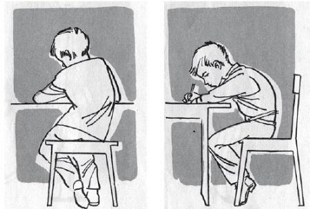 Осанка ребенка за столом